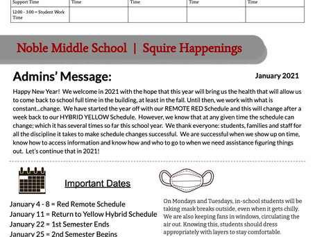 January 2021 Squire Happenings
