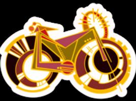 Fat Tire Bike Babe Sticker