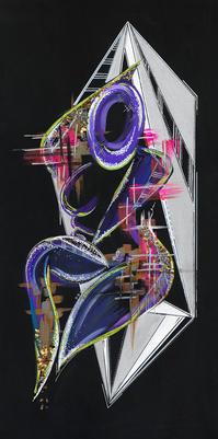 Mixed Media 2D Acrylic on Canvas, 2019.