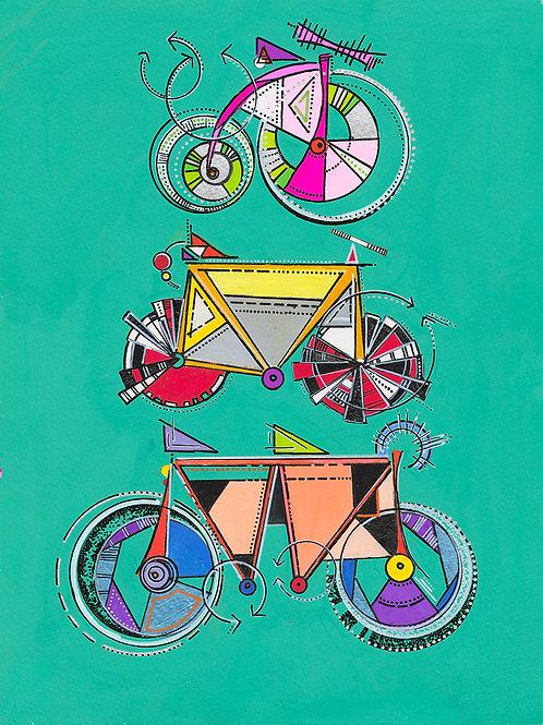Bike Babe Totem Print