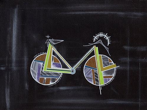 Chalkboard Bike Print
