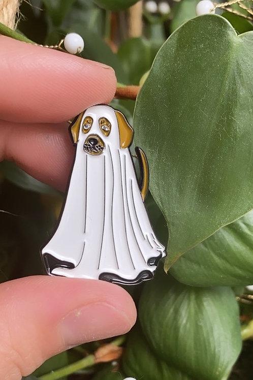 Boo Bark Enamel Pin
