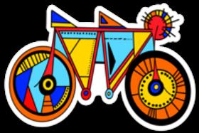 Tandem Bike Babe Sticker