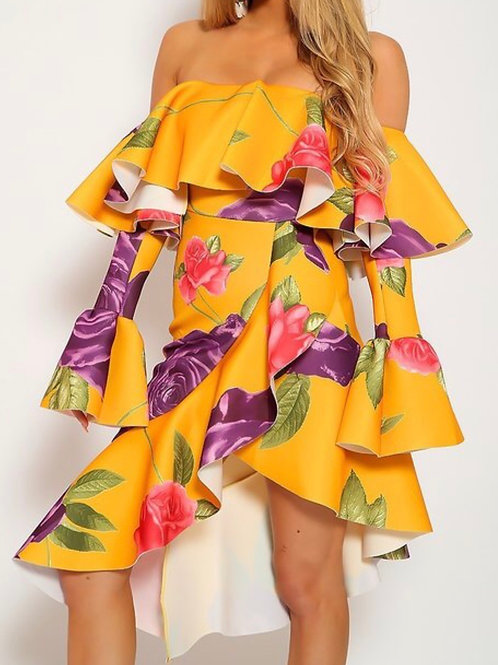 falling for yellow dress