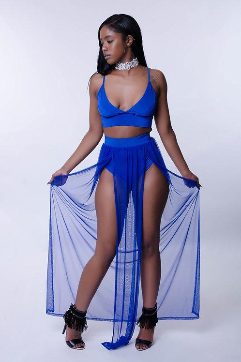 reina 2 piece set royal blue