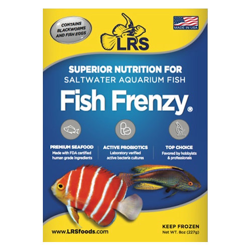 LRS Fish Frenzy Frozen Food 8oz Pack
