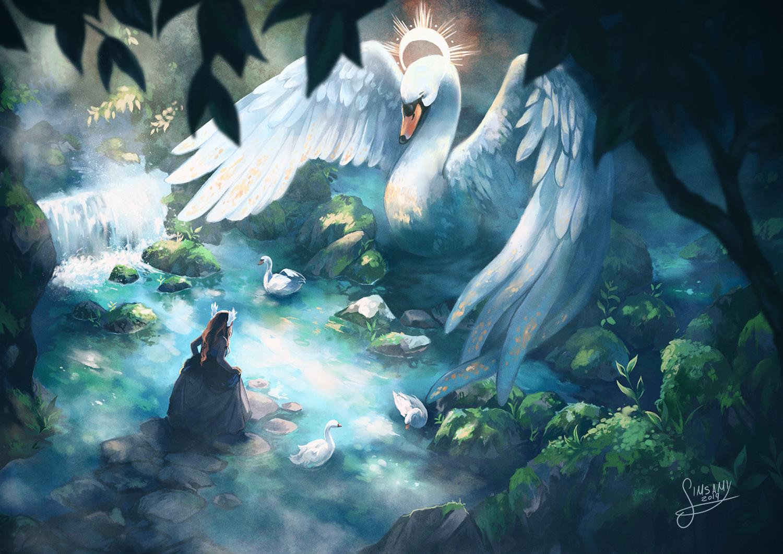 Meeting the Swan god