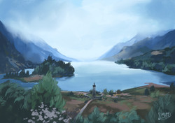 Study of Loch Shiel