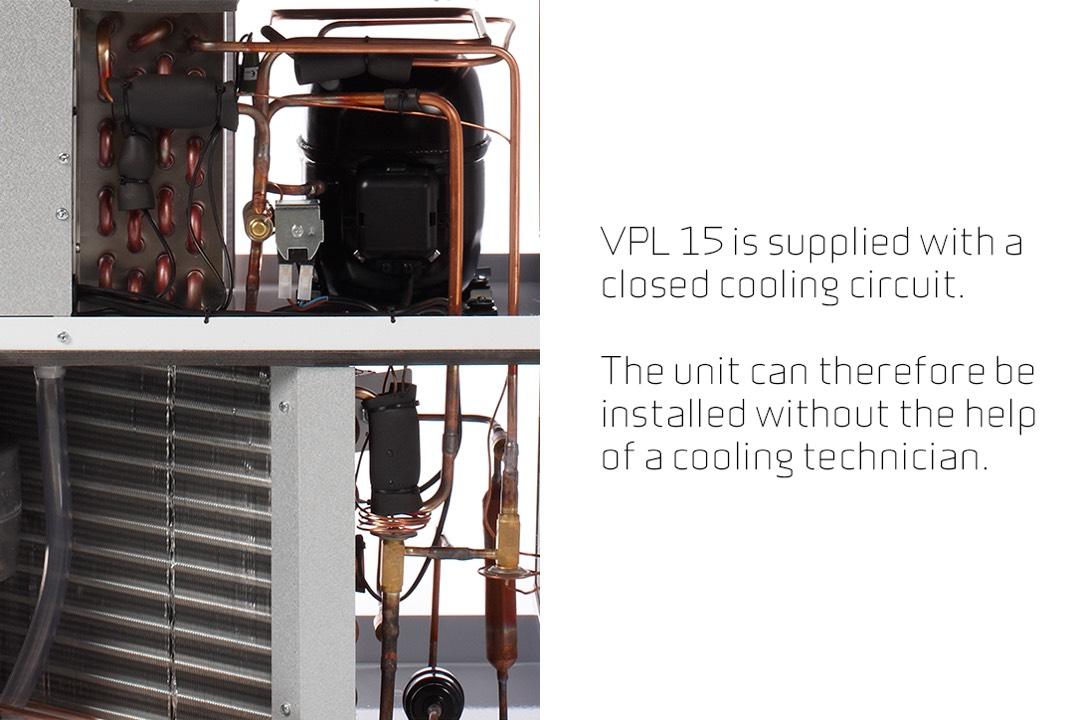 Nilan VPL 15 top koeling