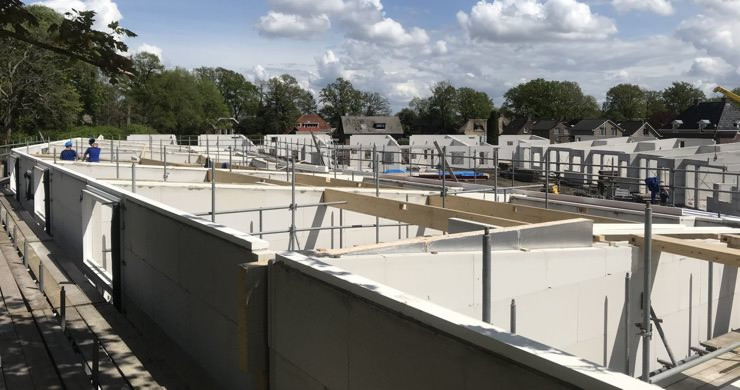 Centrale verwarming in dit bouwproject