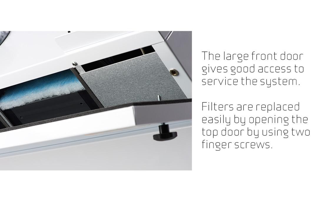 Comfort-CT300 filter toegang