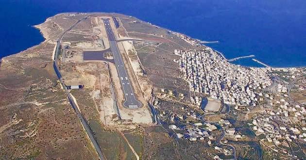 Sitia Airport in East Crete.