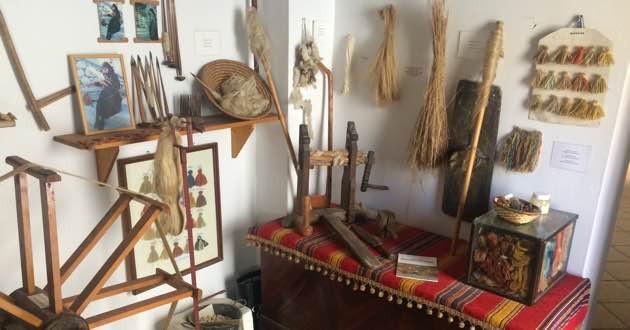 Loom tools Folklore museum in Sitia, East Crete..