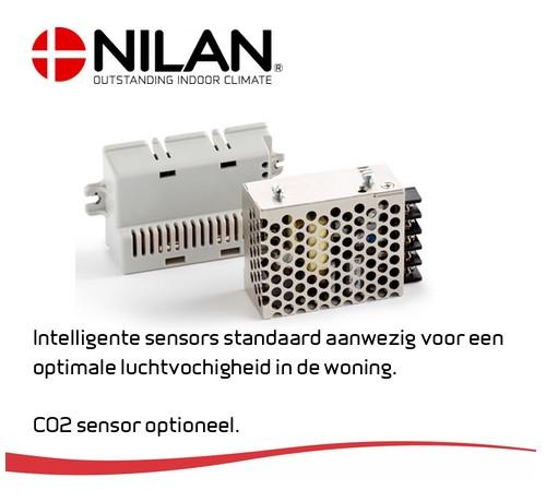 Ventilatie warmtepomp met CO2 sensor