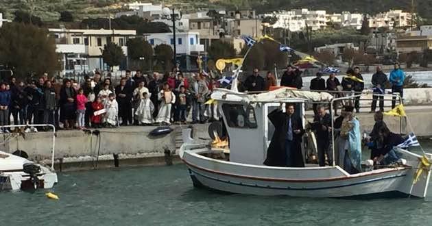 Makrigialos harbour in East Crete