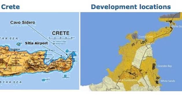 Cavo Sidero East Crete Map.