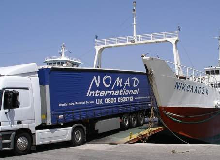 Nomad International. Experts at removals to Greece.