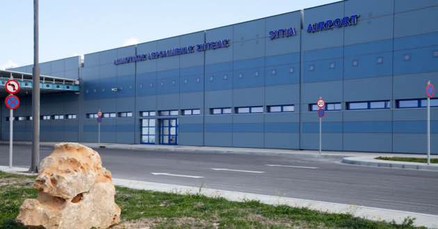 The new Sitia airport terminal in East Crete.