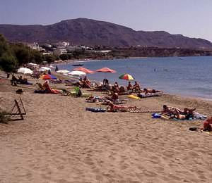 Makrigialos main beach
