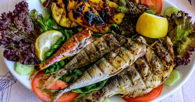 Delicious Grilled East Crete Fishes.
