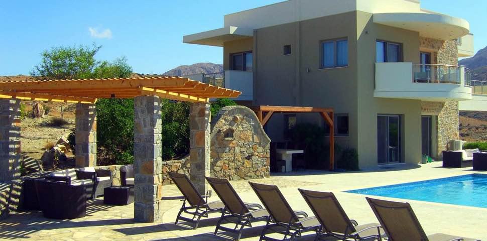 Makrigialos Lagada Ridge villa with pool