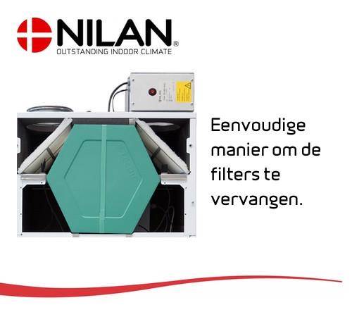 Filter unit ventilatie warmtepomp