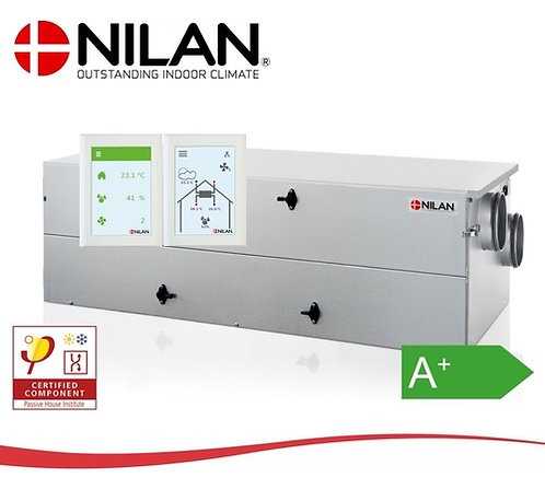 Nilan CT150 met CTS 602 HMI display