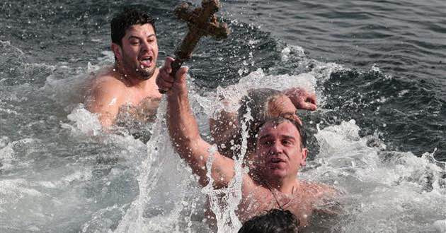 Epiphany day celebrated in Greece on January 6.