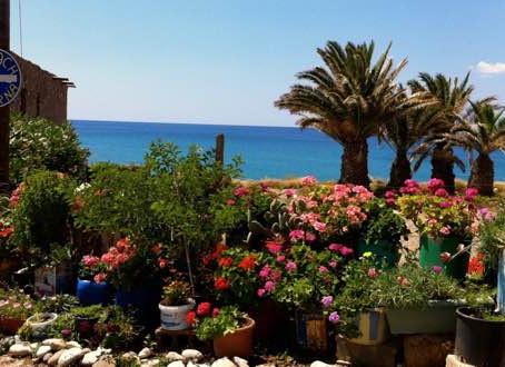 Makrigialos Diaskari beach and taverna.