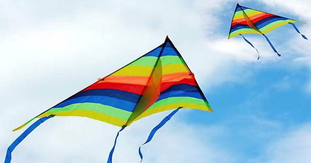 Colourful Kites on Clean Monday in Sitia.
