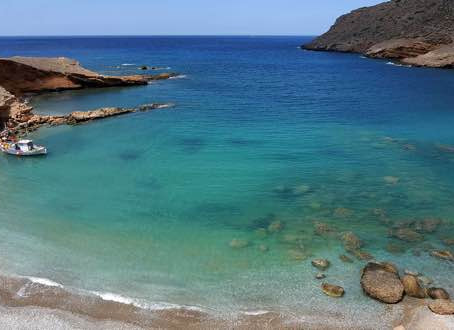Secluded bay's in East Crete.
