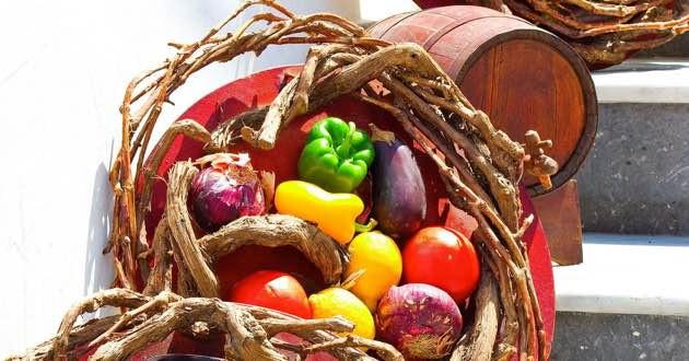 Vegetables in the Kritsa.