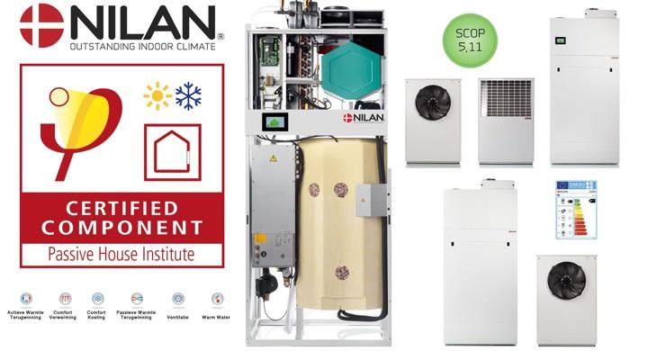 Nilan Compact P ventilatie warmtepomp