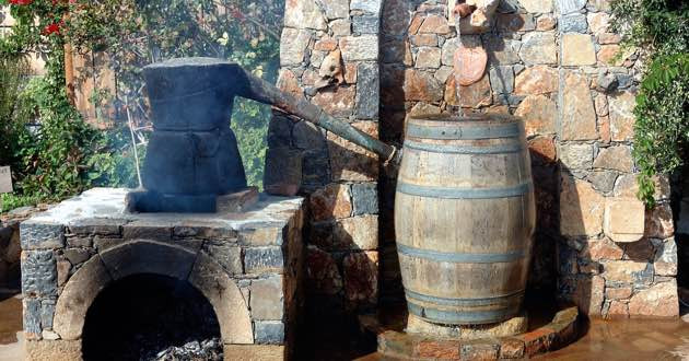 Raki distillery on Crete.