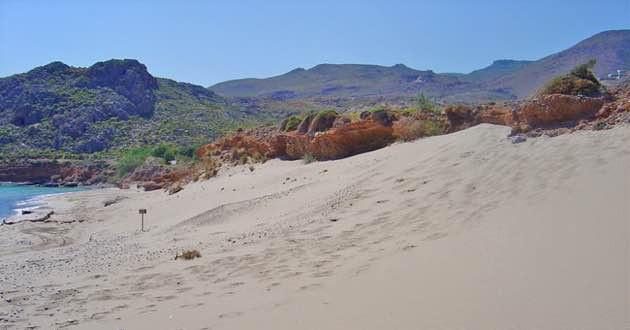 Sand dunes in Xerokambos