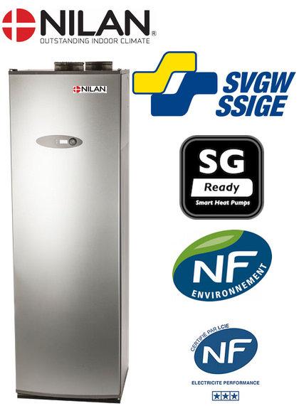 Nilan NVT 2132 ECO warmtepomp boiler - 242 liter - 200-300 M3/h - 2 x wisselaar