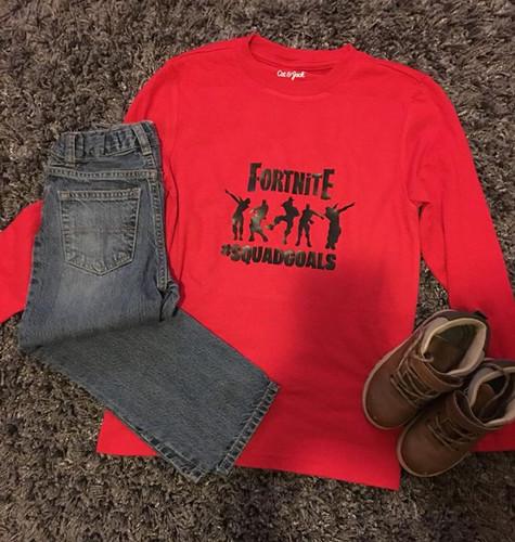 - fortnite squad goals shirt