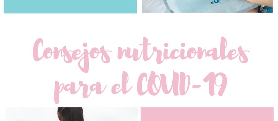 COVID-19: Consejos nutricionales