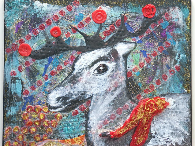 A Plastic Reindeer for Christmas