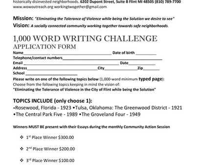 Writing Challenge Application