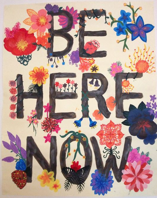 Speak to Me: Be Here NOW