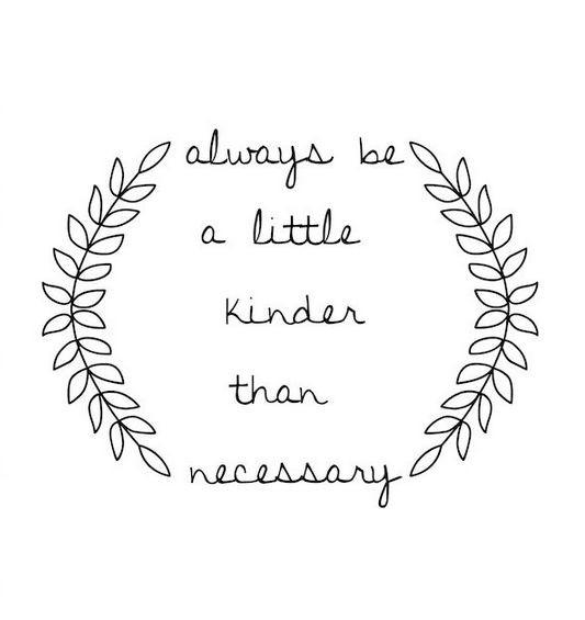 Speak to Me: Always Kinder