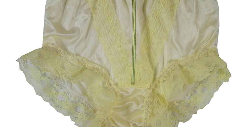NLH19D01 Yellow Zipper New Panties Granny Lace Briefs Nylon Handmade  Men