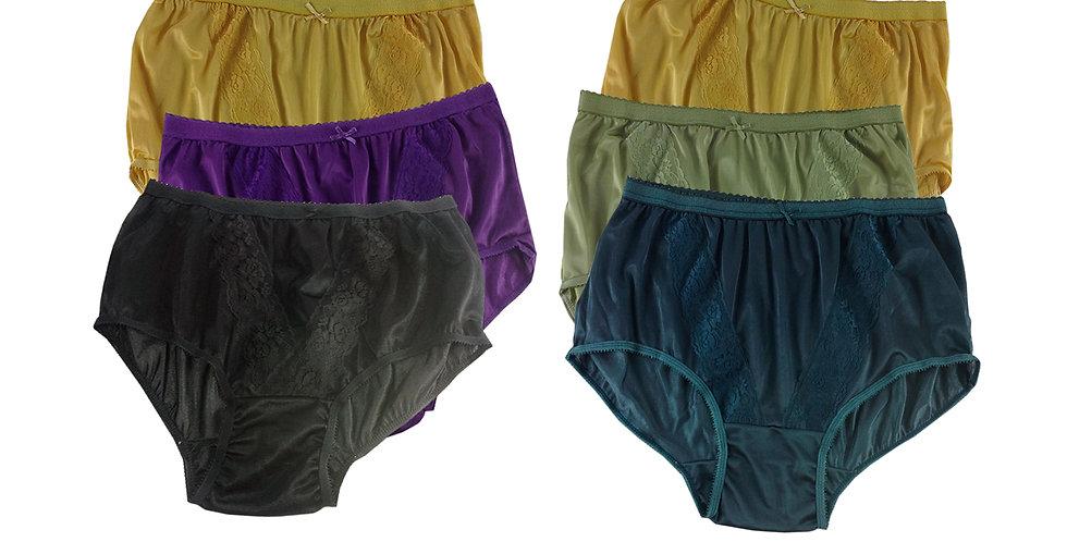 KJSJ27 Lots 6 pcs Wholesale New Panties Granny Briefs Nylon Men Women