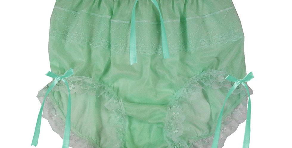 JYH18D02 Fair Green Handmade Nylon Panties Women Men Lace Knickers Briefs