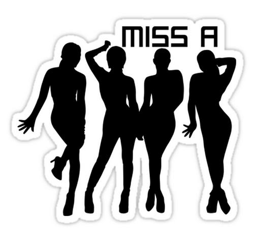 miss a k-pop SSTK024 K-Pop Music Brand Car Window Decal Sticker