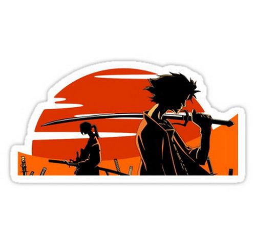 SRBB0019 samurai champloo mugen jin anime Car Window Decal Sticker