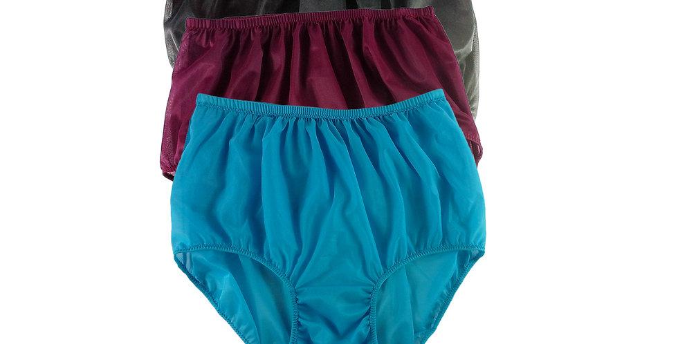 A70 Lots 3 pcs Wholesale Women New Panties Granny Briefs Nylon Knickers