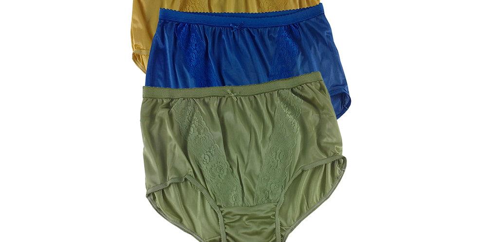 KJTK01 Lots 3 pcs Wholesale Panties Granny Lace Briefs Nylon Men Woman