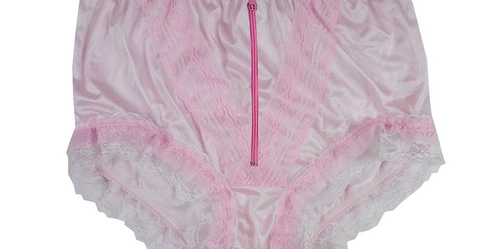 Pink Open Crotch Lingerie Sexy Zipper Zip Panties Briefs Nylon Knickers Lace